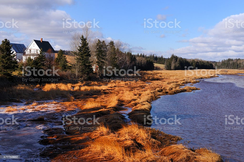 Prince Edward Island in early spring stock photo