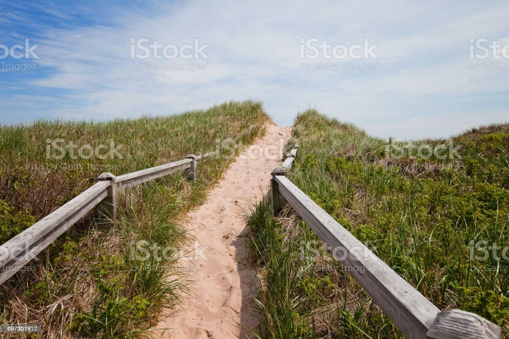 Prince Edward Island Sand Dune stock photo