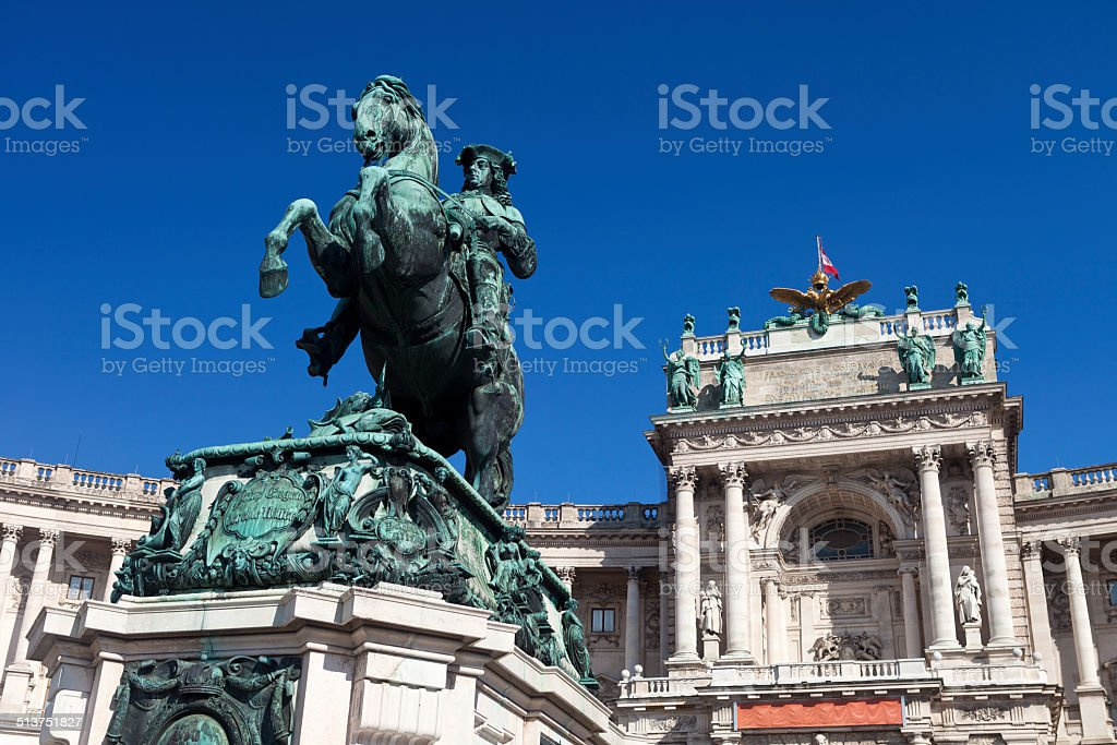 Prince Eugene Statue In The Hofburg Complex stock photo