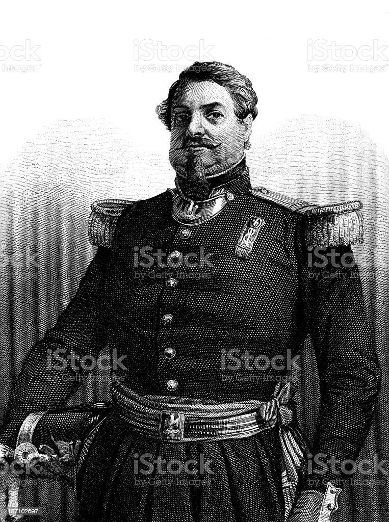 Prince Lucien Murat,1861. stock photo