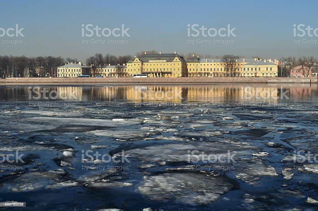 Prince Menshikov Palace in St Petersburg, Russia - architecture landscape stock photo