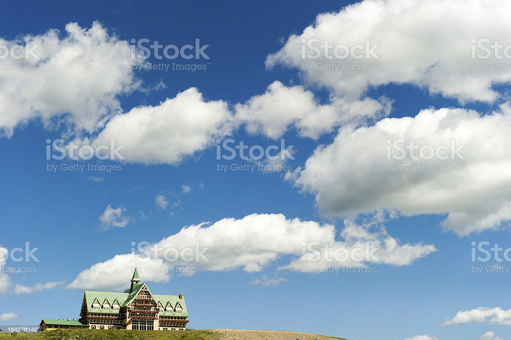 Prince of Wales Hotel in Waterton Lakes National Park Canada stock photo