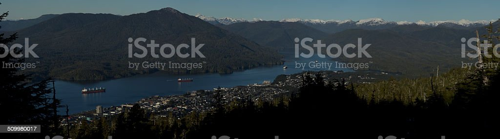 Prince Rupert from up top stock photo