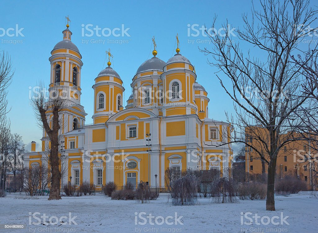 Prince St. Vladimir's Orthodox Cathedral in Saint Petersburg, Russia stock photo