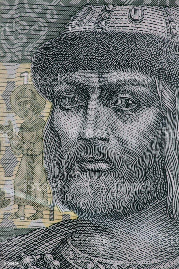 Prince Vladimir portrait stock photo