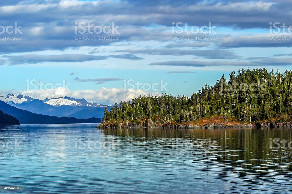 Prince William Sound Alaska stock photo