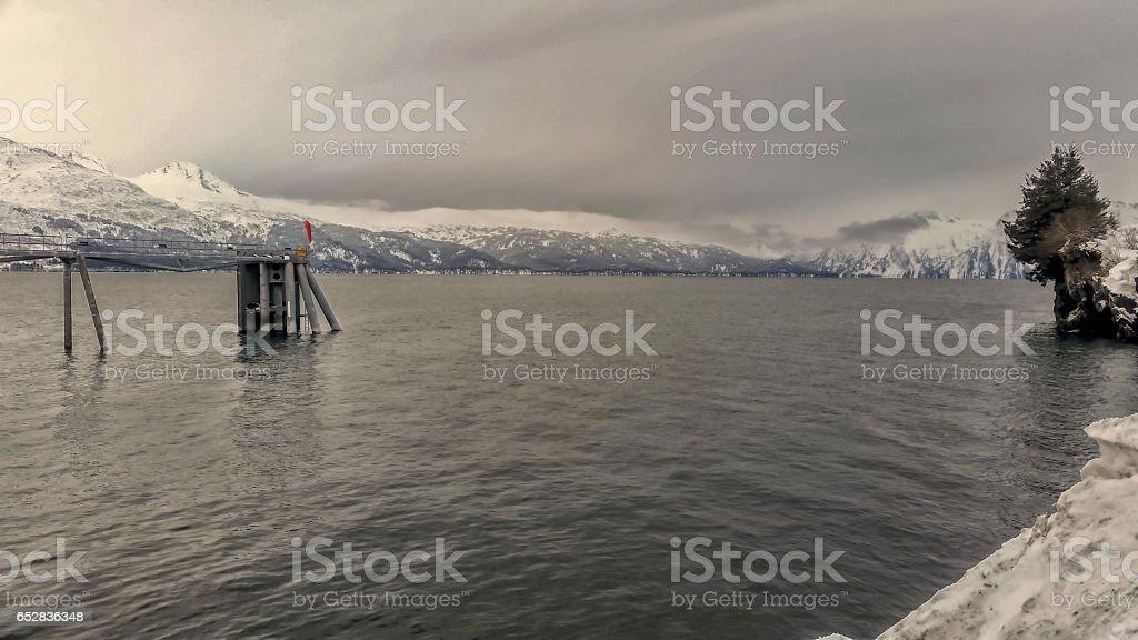 Prince William Sound - Bay of Valdez - Alaska stock photo