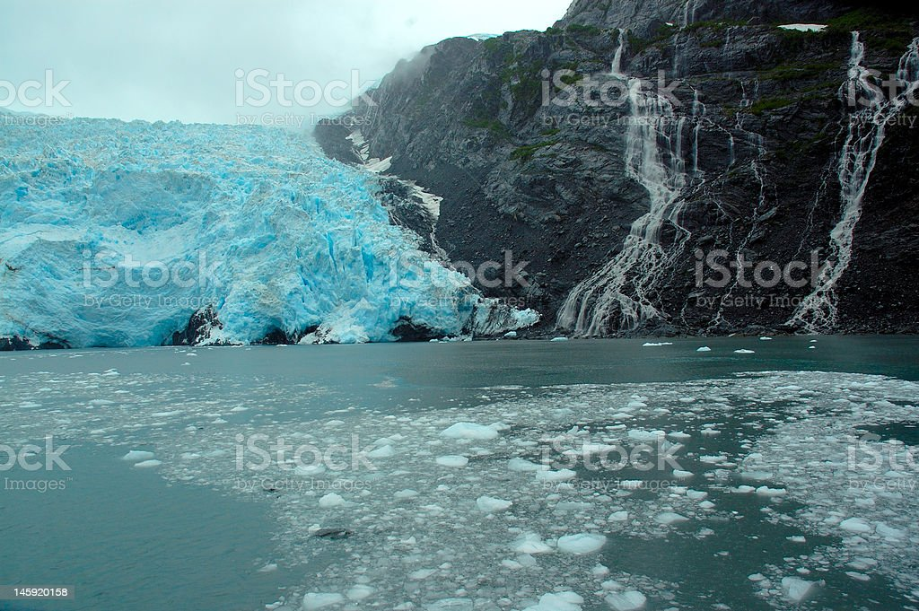 Prince William Sound glacier, Alaska stock photo