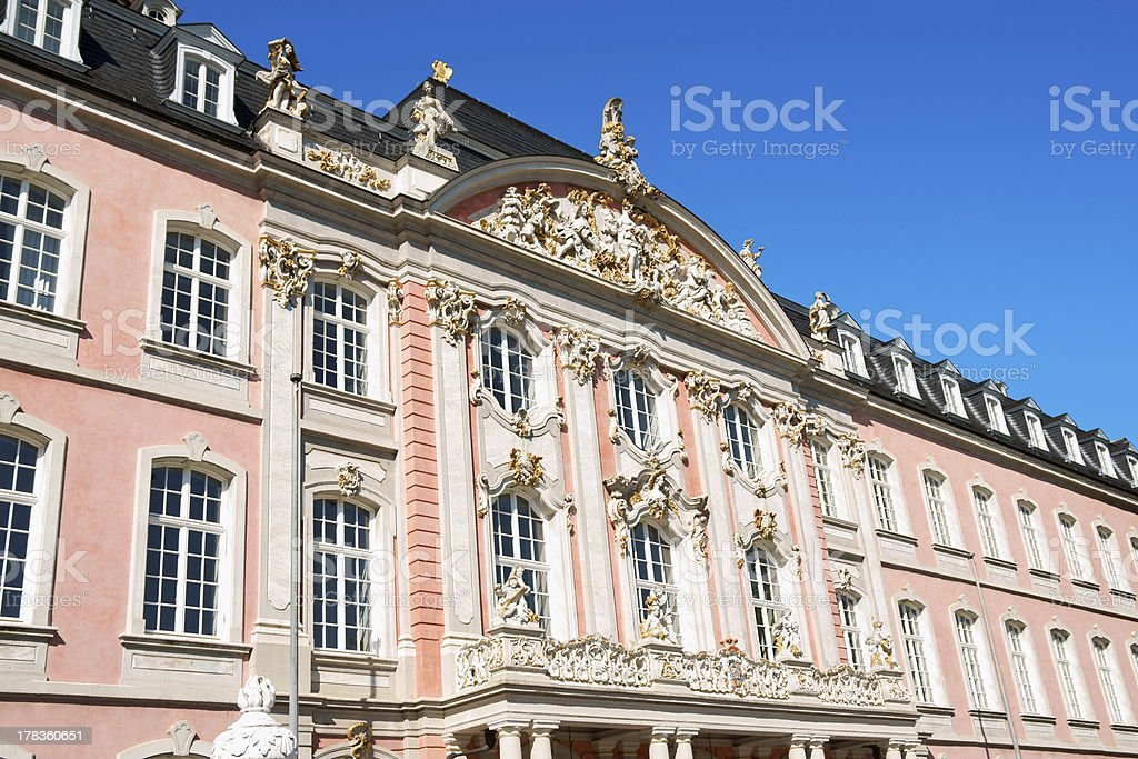 Prince-electors Palace in Trier, Germany stock photo
