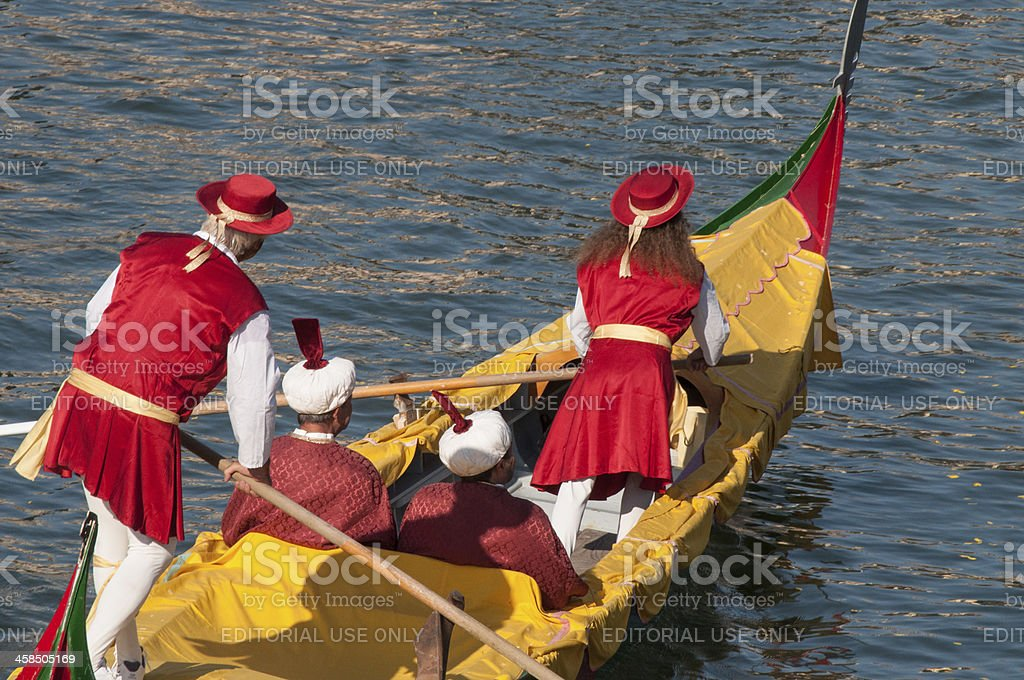 Princes and merchants travel in style on Venice's Grand Canal royalty-free stock photo