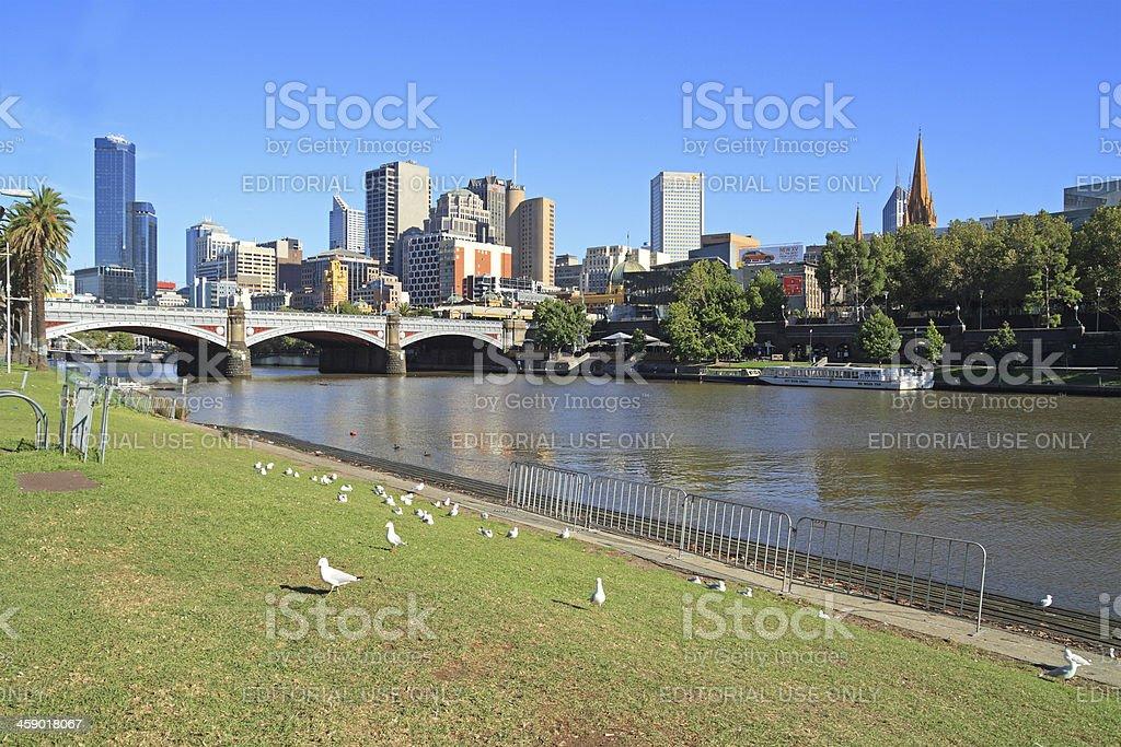 Prince's bridge in Melbourne royalty-free stock photo