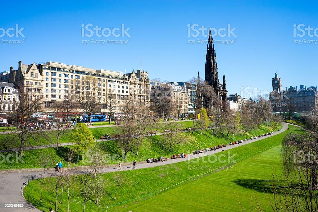 Princes Street Gardens, Edinburgh stock photo