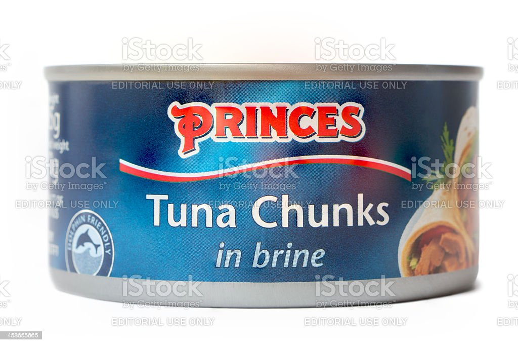 Princes Tuna Chunks In Brine stock photo