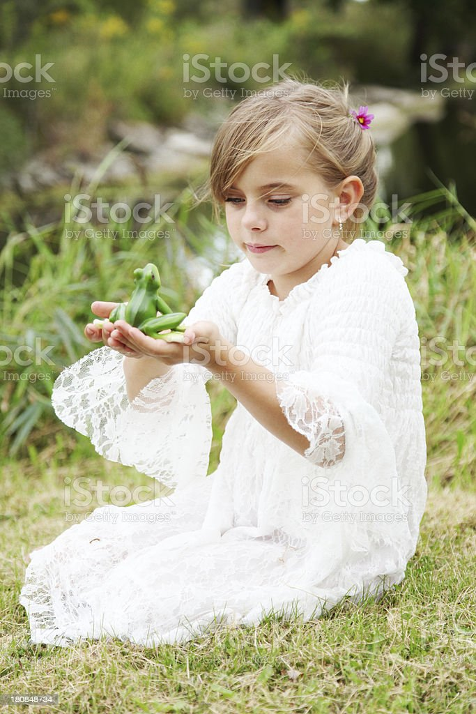 princess and the frog royalty-free stock photo