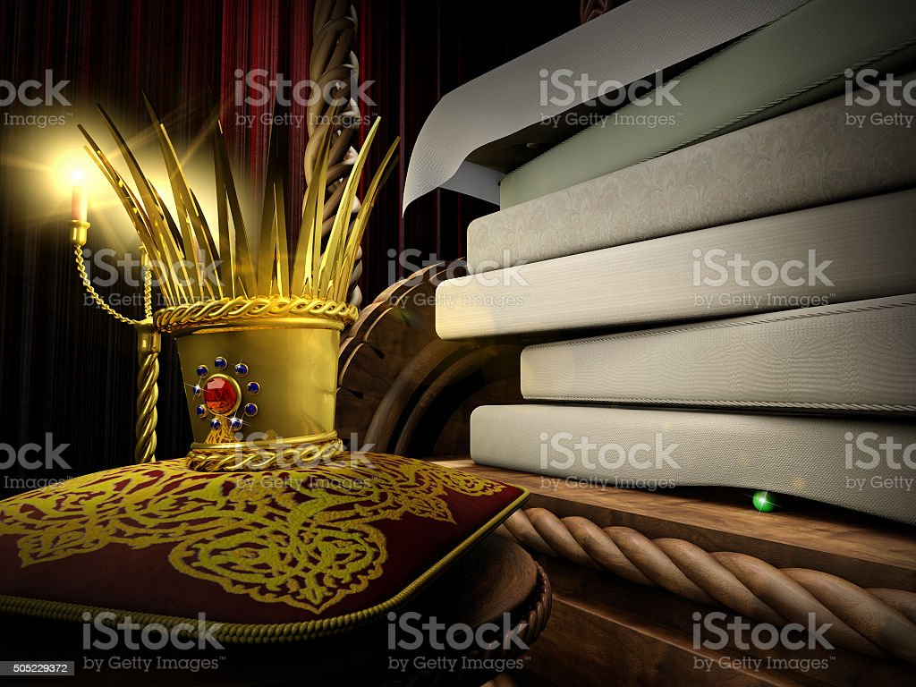 Princess and the Pea vector art illustration