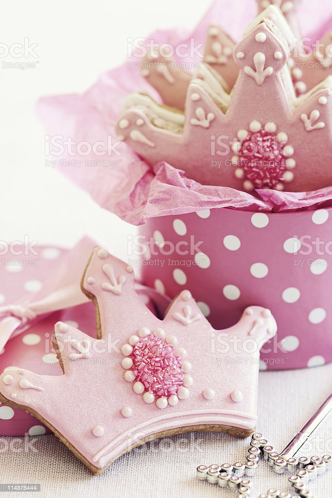 Princess cookies royalty-free stock photo