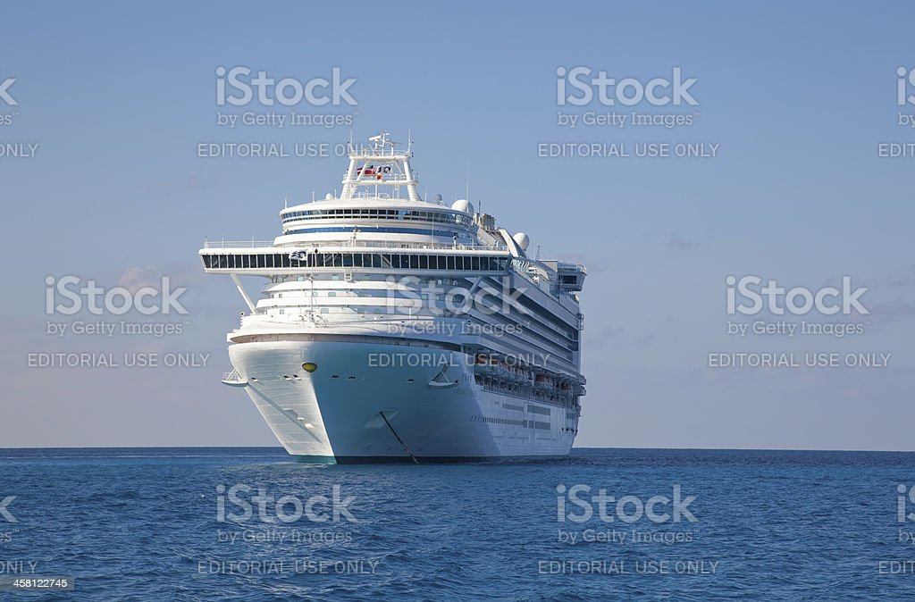 Princess Cruise Ship anchored in Caribbean royalty-free stock photo