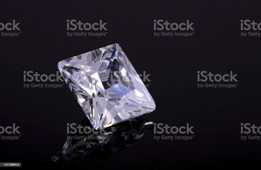 Princess Cut Diamond royalty-free stock photo