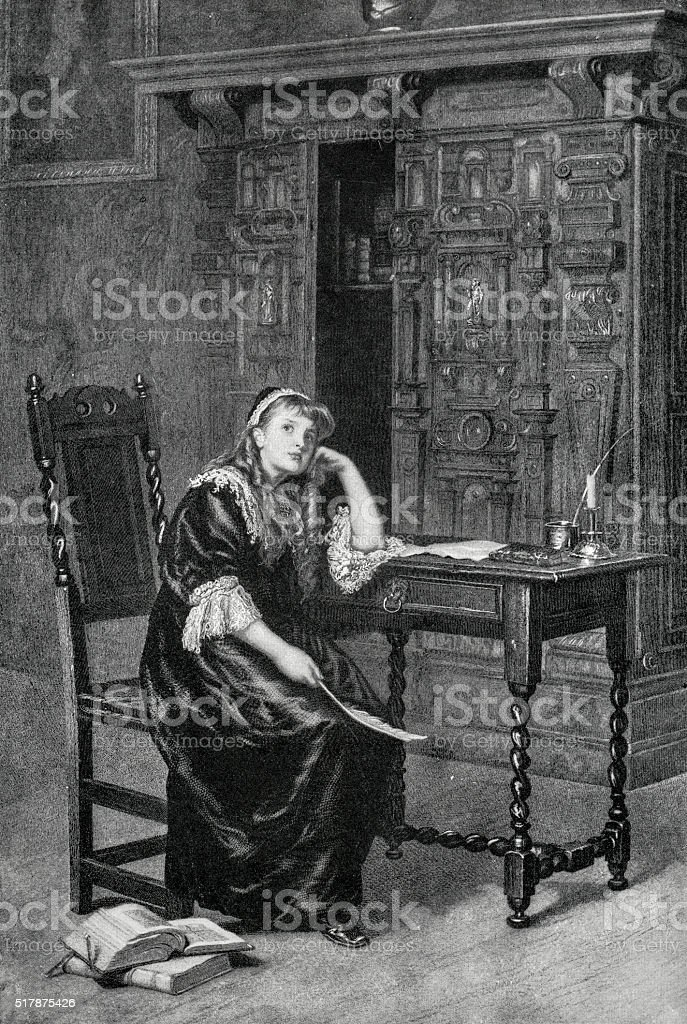 Princess Elizabeth I In Prison stock photo