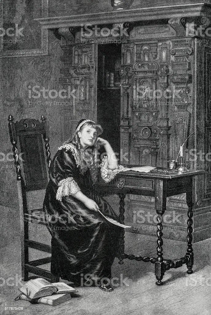 Princess Elizabeth I In Prison stock photo