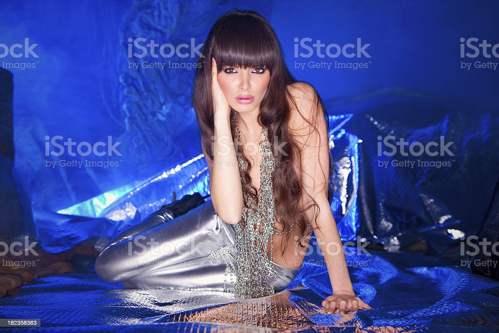 Princess from future royalty-free stock photo