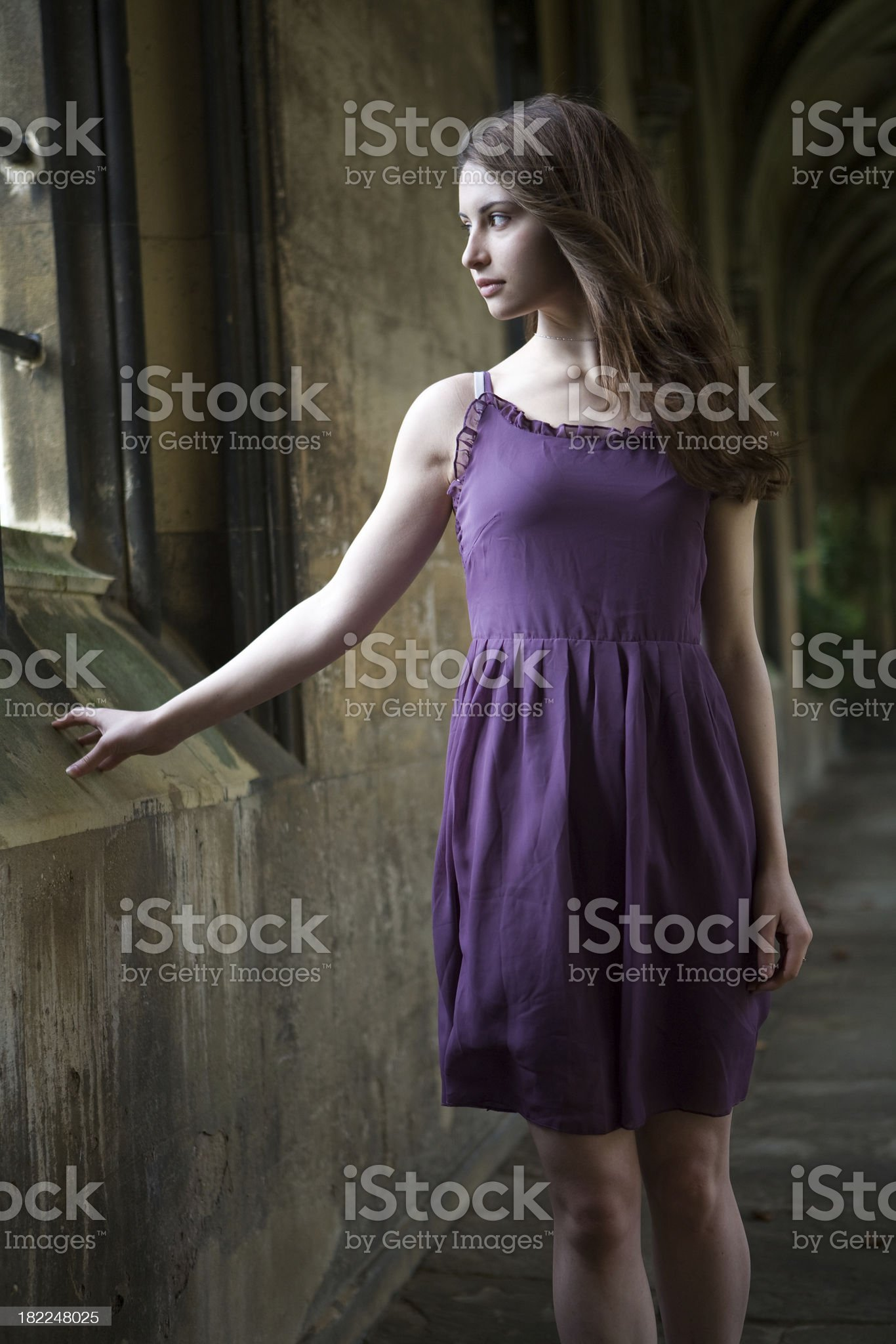 princess looking out of window royalty-free stock photo