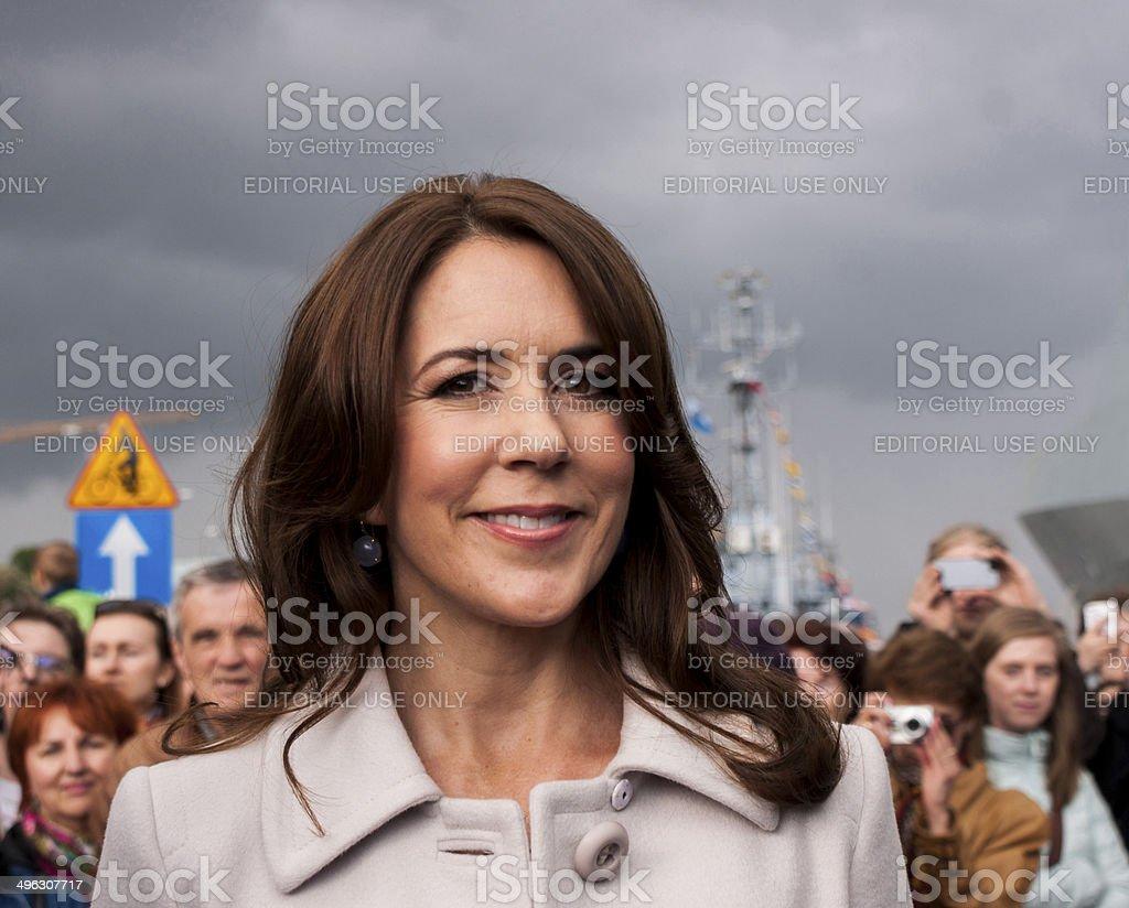 Princess Mary of Denmark visit Poland stock photo