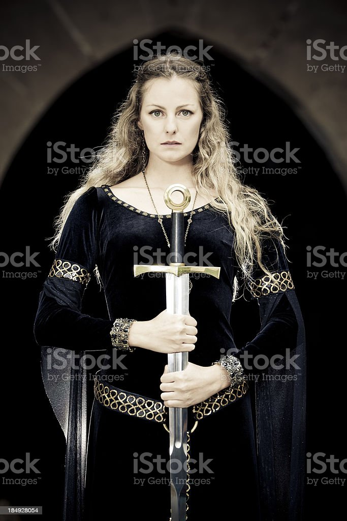 princess of sword stock photo