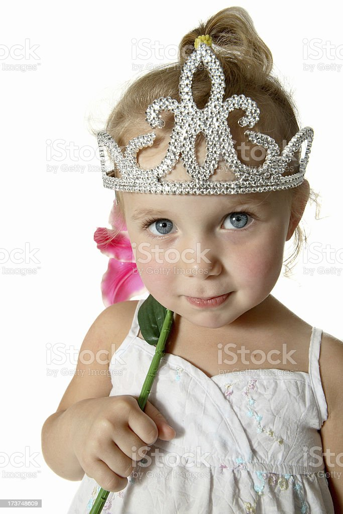 Princess portrait. stock photo