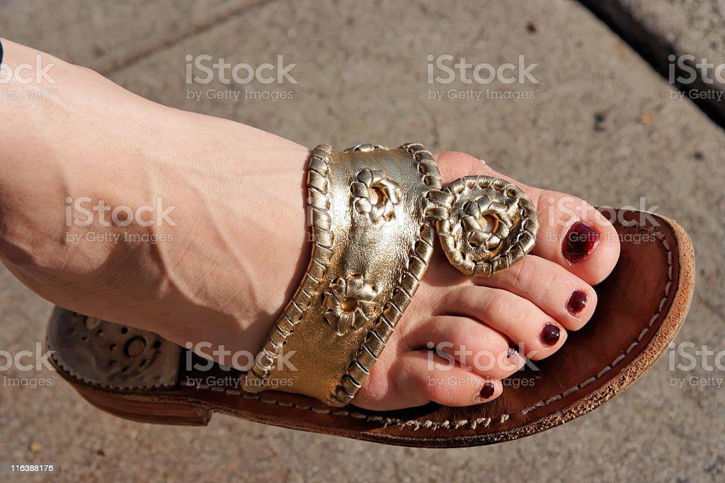 Princess Sandal stock photo