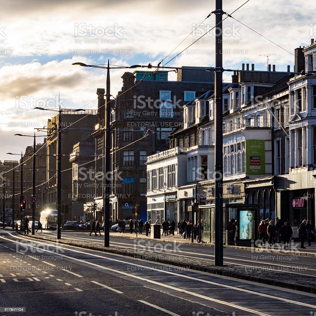 Princess Street stock photo