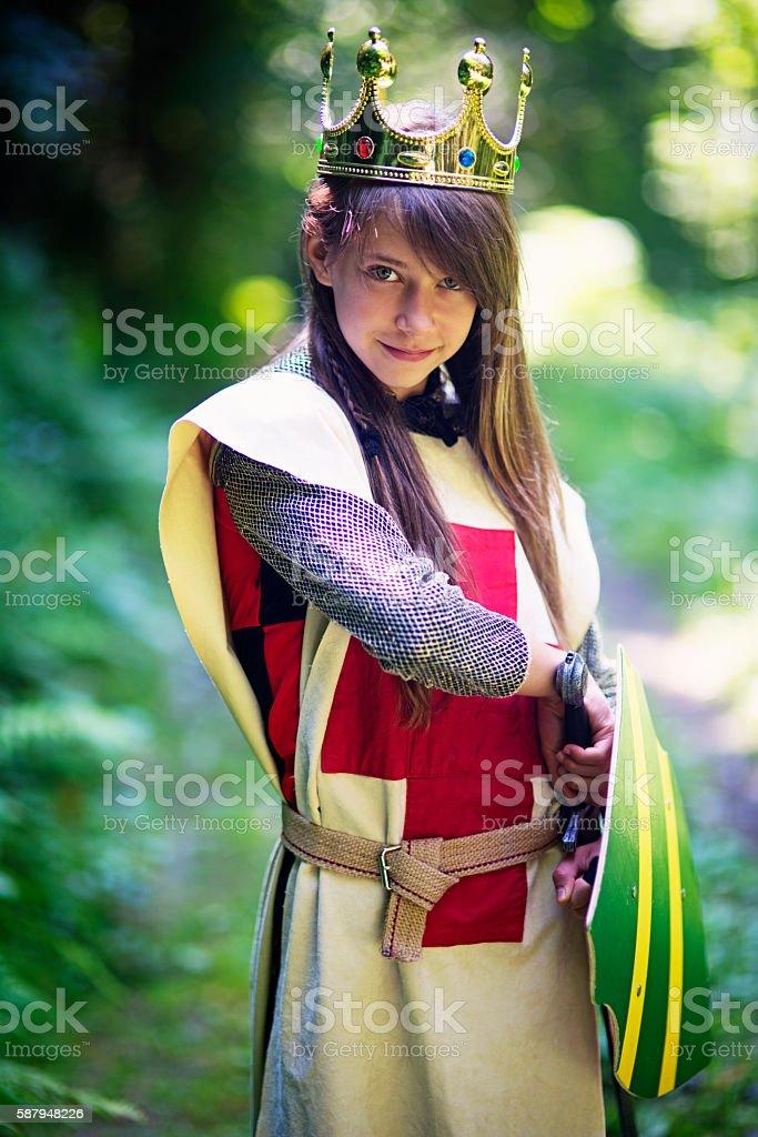 Princess that does not need saving stock photo