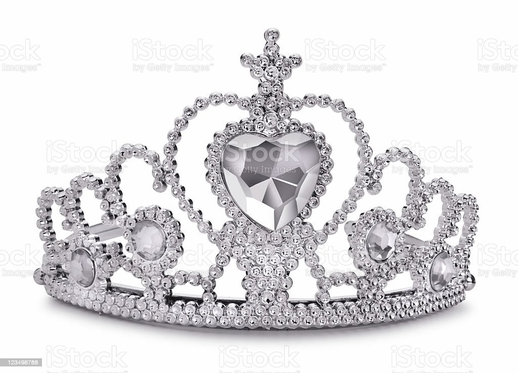 Princess Tiara Isolated on White stock photo