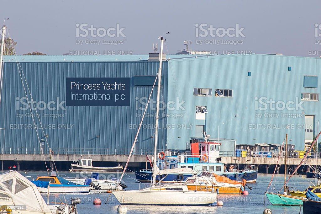 Princess Yachts sign stock photo