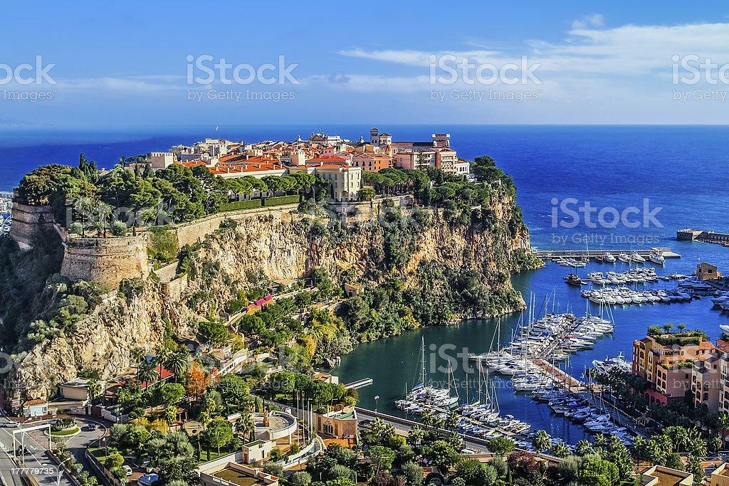 principaute of monaco and monte carlo royalty-free stock photo