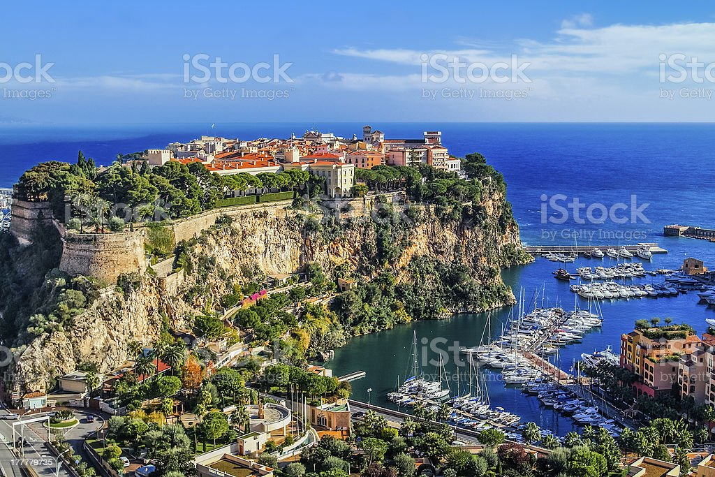 principaute of monaco and monte carlo stock photo