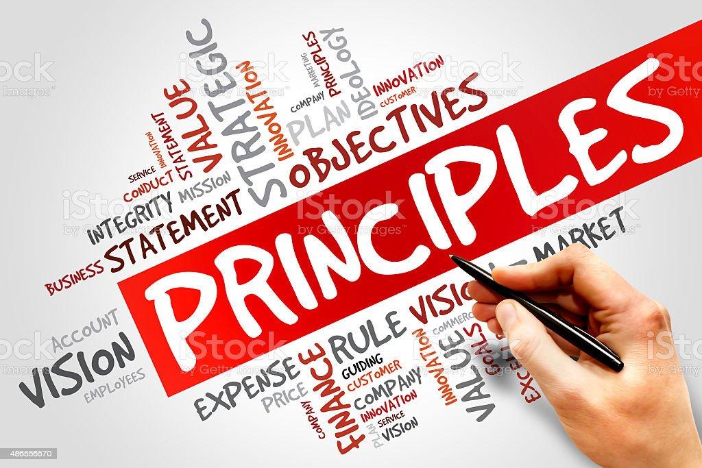 Principles stock photo