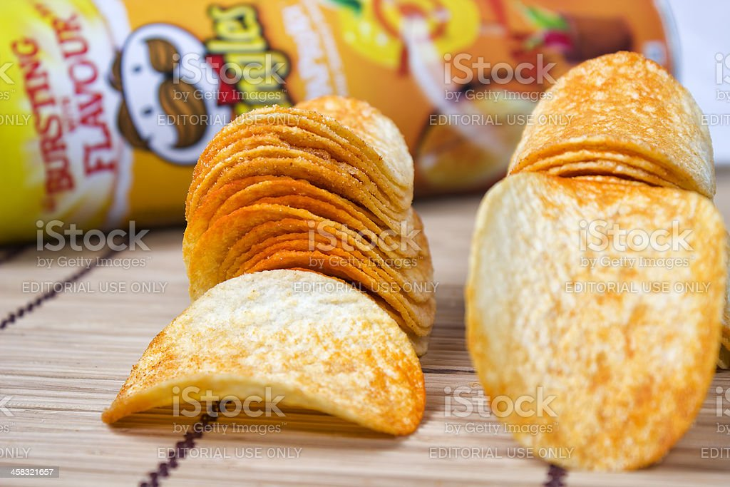 Pringles, delicious chips to taste Paprika royalty-free stock photo