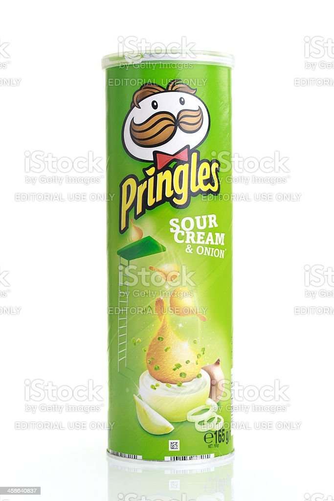 Pringles on white stock photo