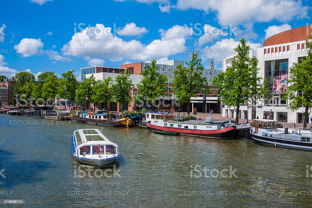Prinsengracht Canal in Amsterdam, The Netherlands stock photo
