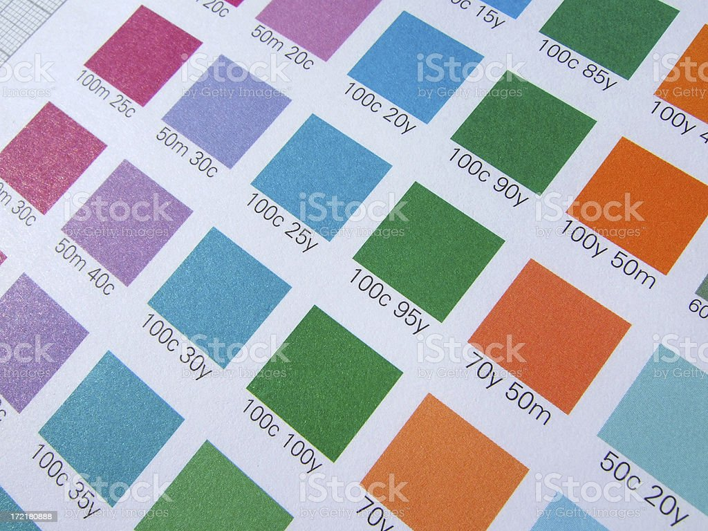 CMYK print control royalty-free stock photo