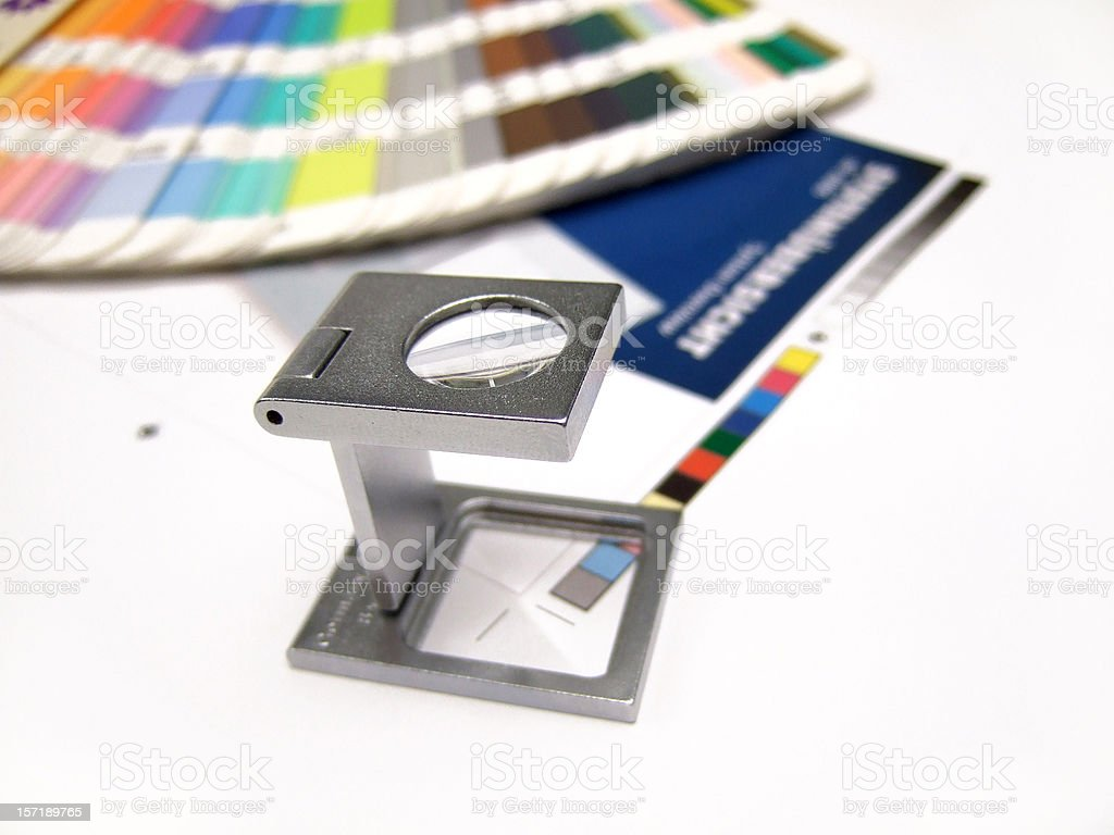 Print control process using CMYK stock photo