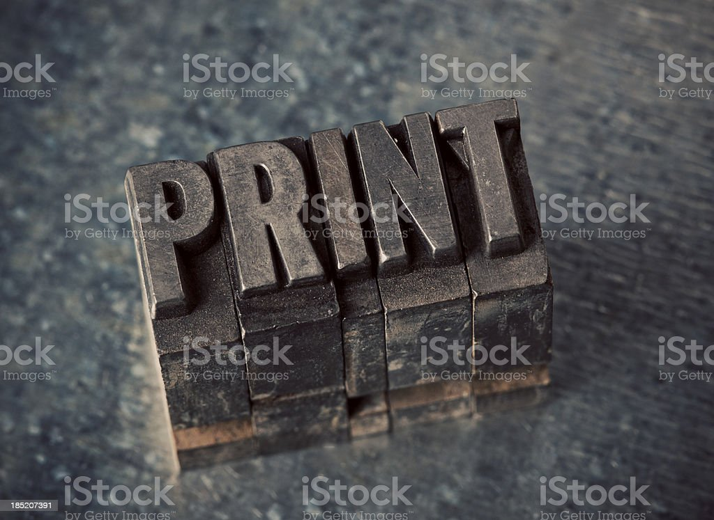 Print In Letterpress Type royalty-free stock photo