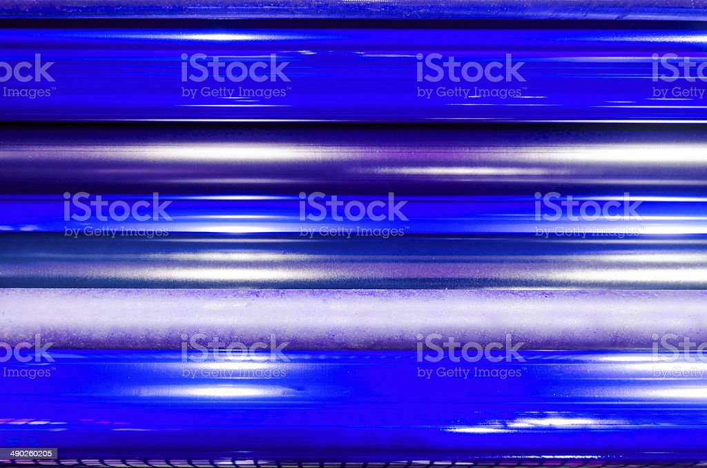 print machine printing press rollers, stock photo