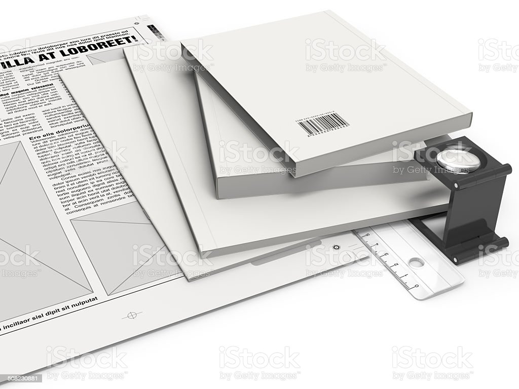 Print Media in Production stock photo