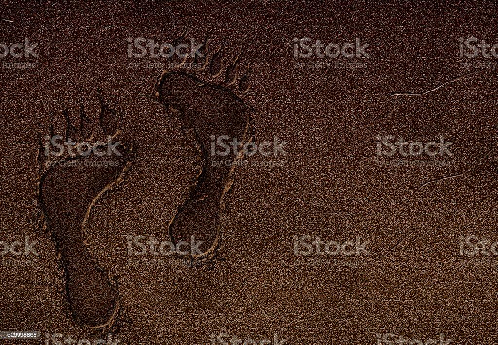 print of monster stock photo