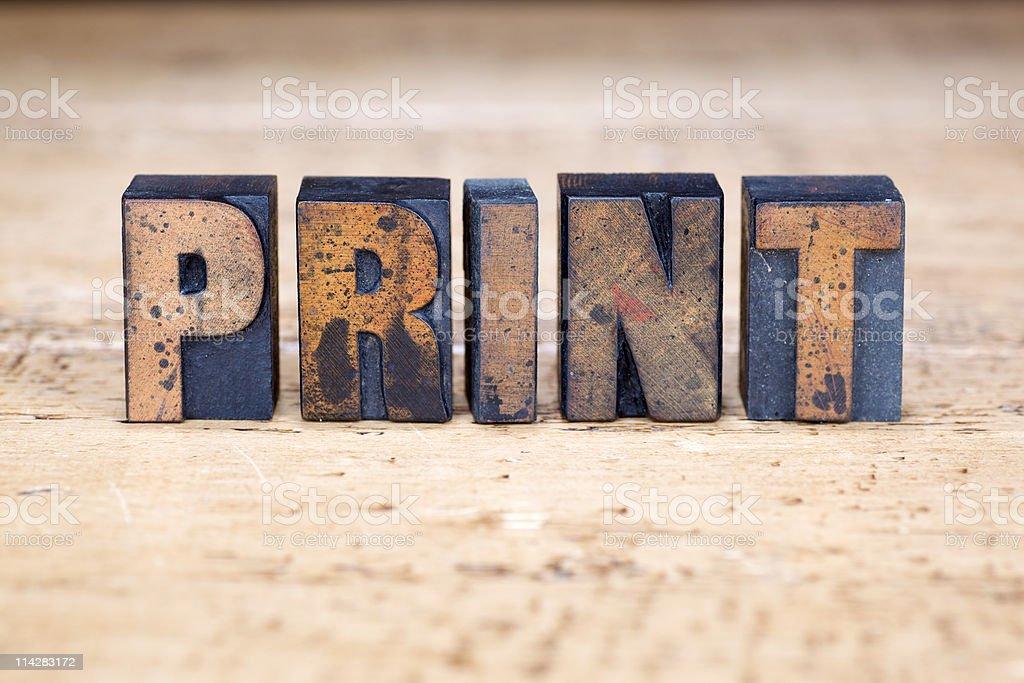 Print... stock photo
