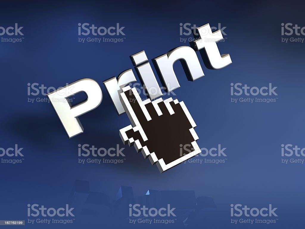 Print royalty-free stock photo