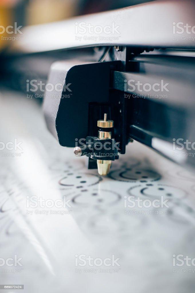 Print shop equipment stock photo