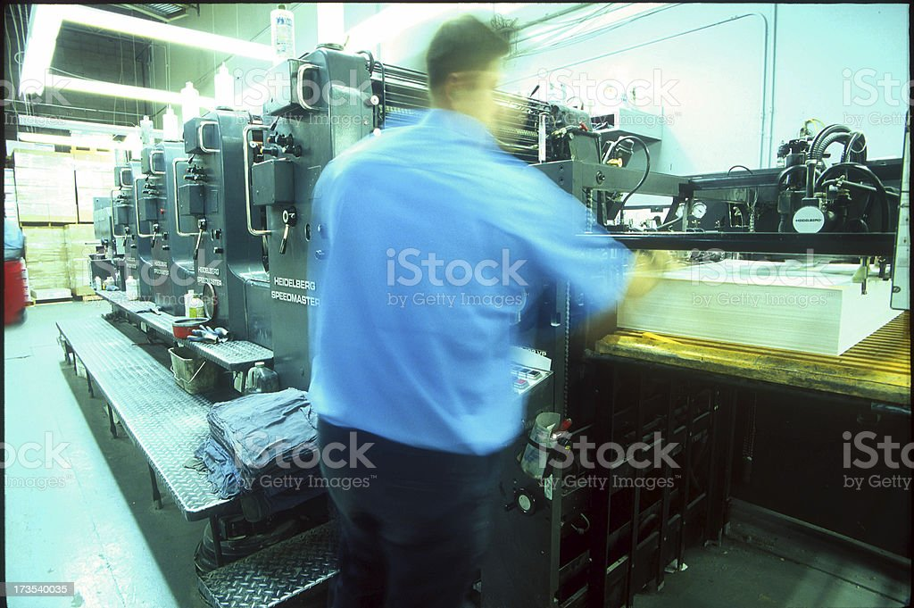 Print Shop stock photo
